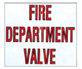 Strike First 007 Fire Department Valve Decal