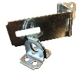 "National Hardware N103-259 V34 Double Hinge Safety Hasp - 3-1/4"" Zinc Plated - Carded"