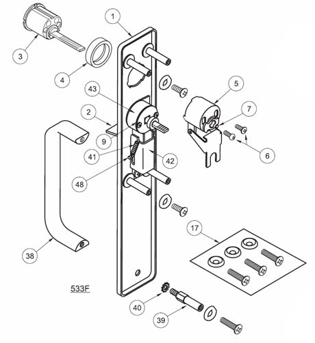 633F yale 633f escutcheon and pull with thumbpiece and less cylinder yale 7000 series wiring diagram at edmiracle.co