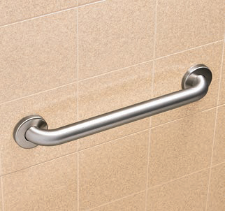 "Bobrick B-5806.99x42 Straight Grab Bar - 42"" Peened Grip"