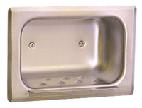 Bobrick B-4380 Soap Dish with Mounting Clamp for Stud Walls