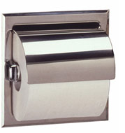 Bobrick B-669 Bright Finish Toilet Tissue Dispenser with Mounting Clamp
