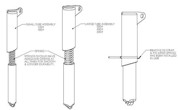 Bilco Rprs2ss E Replacement 180lb Lifting Mechanisms For
