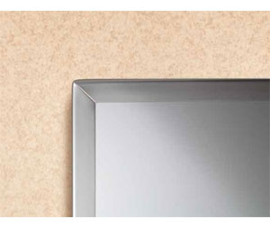 "Bobrick B-165 1830 18""W x 30""H Channel Frame Plate Glass Mirror"