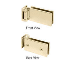 offset pivot hinge. crl fa044br free swinging offset pivot hinge - polished brass