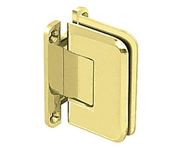 C R Laurence Co Inc Crl P1N537Br  Pinnacle 537 Series Wall Mount - Full Back Plate - Standard Hinge With 5 Degree Offset - Brass at Sears.com