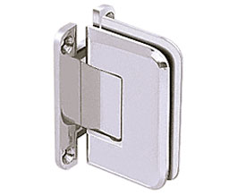 C R Laurence Co Inc Crl P1N537Ch  Pinnacle 537 Series Wall Mount - Full Back Plate - Standard Hinge With 5 Degree Offset - Chrome at Sears.com