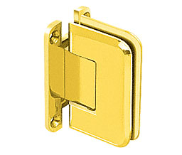 C R Laurence Co Inc Crl P1N537Gp  Pinnacle 537 Series Wall Mount - Full Back Plate - Standard Hinge With 5 Degree Offset - Gold Plated at Sears.com