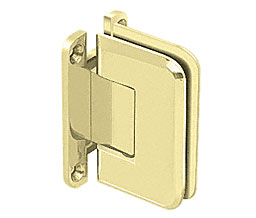 C R Laurence Co Inc Crl P1N537Sb  Pinnacle 537 Series Wall Mount - Full Back Plate - Standard Hinge With 5 Degree Offset - Satin Brass at Sears.com
