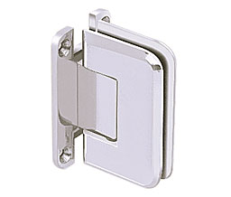 C R Laurence Co Inc Crl P1N537Sc  Pinnacle 537 Series Wall Mount - Full Back Plate - Standard Hinge With 5 Degree Offset - Satin Chrome at Sears.com