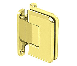 C R Laurence Co Inc Crl P1N537Ubr  Pinnacle 537 Series Wall Mount - Full Back Plate - Standard Hinge With 5 Degree Offset - Ultra Brass at Sears.com
