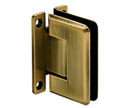 C R Laurence Co Inc Crl P1N537Abr  Pinnacle 537 Series Wall Mount - Full Back Plate - Standard Hinge With 5 Degree Offset - Antique Brass at Sears.com