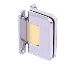 C R Laurence Co Inc Crl P1N537Cba  Pinnacle 537 Series Wall Mount - Full Back Plate - Standard Hinge With 5 Degree Offset - Chrome With Brass Accent at Sears.com