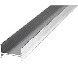 CRL SJ72BA 72\  Frameless Sliding Shower Door Side Jamb Extrusion for 1/4\  and 3/8\  Glass - Brite Anodized  sc 1 st  Architectural Builders Supply & SJ72BA 72\