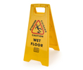 Palmer Fixture CS701  Caution Wet Floor Sign 2 - Sided