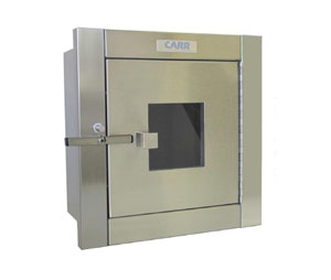 Carr SPT-24DD x SPT-24DD SGD Single Door Telescoping Specimen Pass-Through Cabinet with Glass Door