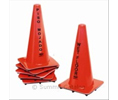 "Continental 125 CONE WET FLR CAUTION 18"" FLUORES/ORG ENGLISH-ONLY"