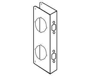 Don-Jo 1-AB-VF Flat Front Wrap-Around Plate for Cylindrical Door Locks - 4\  x ...  sc 1 st  Architectural Builders Supply & Don-Jo 1-AB-VF Flat Front Wrap-Around Plate for Cylindrical Door ...