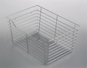 "Hafele 547.41.662 Matt Nickel Wire Closet Basket w/ Slides 29""x16""x6"" - 1 Set"