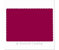 Hoffmaster 310524 PLACEMAT 9.5X13.5 SCALLOPED EDGE/PAP BURGUNDY