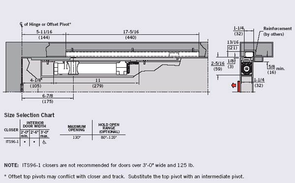 Dorma its96 1 ho metal concealed overhead closer with hold - Ferme porte geze ts 4000 ...