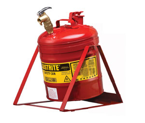 Justrite 7150156 Tilt Safety Can With Top Faucet And Stand For Laboratories-Red - 5 Gallon at Sears.com