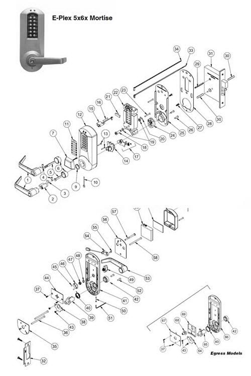 kaba simplex 1000 series parts