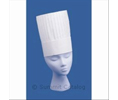 "KeystoneCap KCB7 7"" TALL PLEATED CHEF HAT W/ADJ BAND"