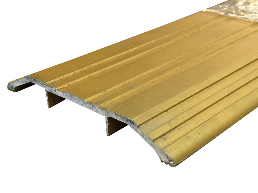 Gold Anodized Aluminum Commercial Saddle Threshold