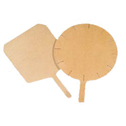 "Tomlinson #1022400 Richlite® Pizza Board, 23"" x 18"" Round/5"" handle"