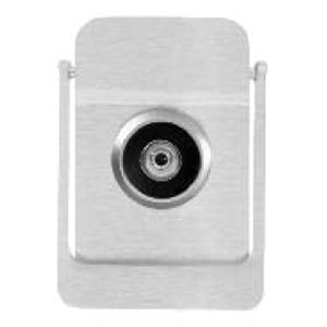 Rockwood 614V-626 Door Knocker with Viewer - Satin Chrome Plated Brass