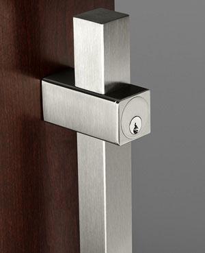 Rockwood LP7901DBD-630 Plain Post Mount Square Locking Door Pull ...