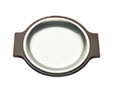 Tomlinson #1006355 Round Deep Dish Dinner Platter- Frosty Finish- 7-1/2""