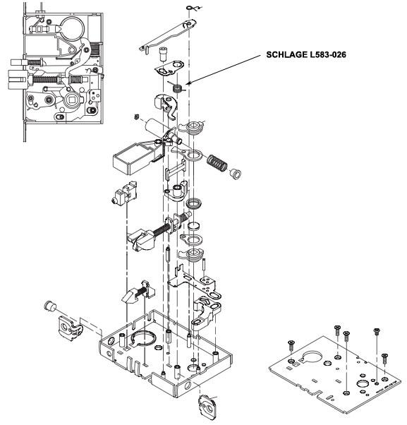 mortise lock diagram