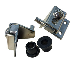CNH704U-NP Bright Nickel Plated Concealed Pivot Hinges for Flush ...