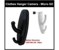 Azco Technologies AZC-AZCAMPRV1WH  Coat Hook Camera for Micro SD Card