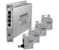 Comnet CON-CLEK41EOC CopperLine® Value Kit: Point-to-Multipoint Ethernet-over-Coax Extender