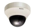 "Sanyo SAN-VCCP7574 1/4"" Color CCD Indoor Mini Dome Camera with Built-in 2.8-7.3mm Pan-Focus Lens"