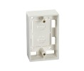 Black Box BLA-JPB654 Surface-Mount Box, Single-Gang, White