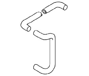 "Trimco 1747-1 605 Push/Offset Pull Bar Set - 1-1/4"" Dia. Push Bar with 12"" CTC Offset Pull - Polished Brass"