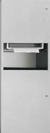 ASI 94696A Recessed Automatic Roll Paper Towel Dispenser and Waste Receptacle Unit