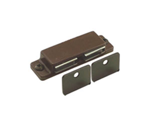 EPCO EP1015-WH Cabinet Catch - Plastic Casing Magnet and Strike Plate - Pull Force: 10 lb.