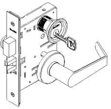 Falcon M Series Mortise Lock Keyed Single Cylinder