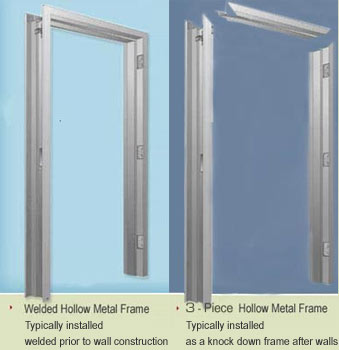 solid core wood door and metal frame complete unit