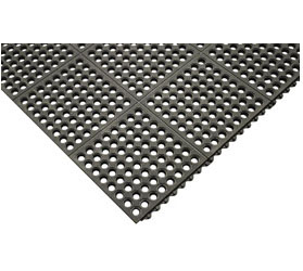 Tomlinson #1038000 C-Kure® Grip Top Mat, Black, General Purpose